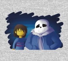 UNDERTALE - Sans and Frisk Kids Tee