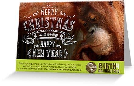 Earth 4 Orangutans Christmas Card - 2 by Earth 4 Orangutans E40