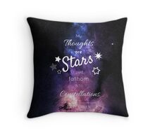 My Thoughts are Stars- The Fault in our Stars- John Green- Stars Purple Throw Pillow