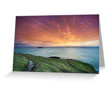 Headland sunset Greeting Card