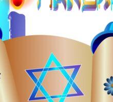 Happy Hanukkah-Torah Sticker
