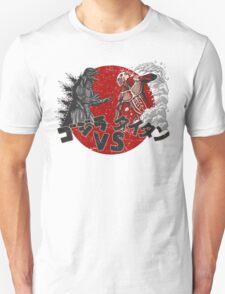 Battle of Titans - Godzilla Attack on Titan T-Shirt