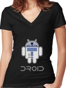 (An)Droid Women's Fitted V-Neck T-Shirt