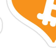 """""""I Heart Bitcoin Mining"""" bitcoin tshirt Sticker"""