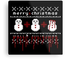 Jolly Bloody Snowman Metal Print