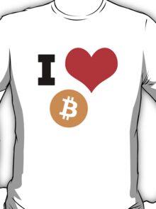 I Heart Bitcoin tshirt T-Shirt