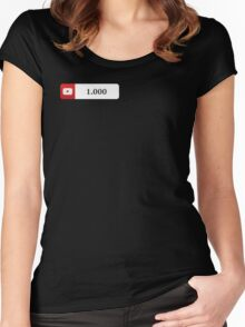 YouTube 1000 Subscribers Women's Fitted Scoop T-Shirt