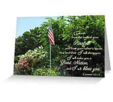 Great Nation Bless You Greeting Card