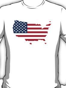 American Flag USA Silhouette T-Shirt