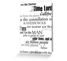 Doctor Ten's Speech Greeting Card