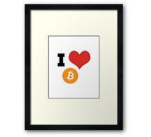I Heart Bitcoin tshirt Framed Print