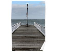 Pier at Eastern Beach Poster