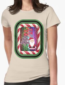 MERRY CHRISTMAS Womens Fitted T-Shirt