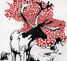 Reindeer drawing by scott allison