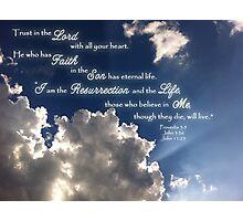 Trust & Faith Photographic Print