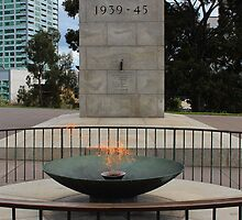Shrine of Remembrance, Eternal Flame - Melbourne 2013 by brendanscully