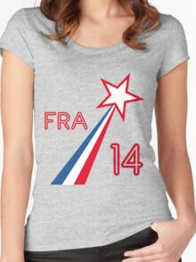 FRANCE STAR Women's Fitted Scoop T-Shirt