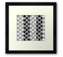 Jigsaw - Black & White  Framed Print