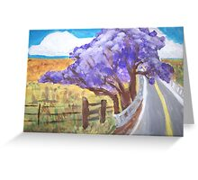 Jacaranda Tree--Upcountry, Maui  Greeting Card