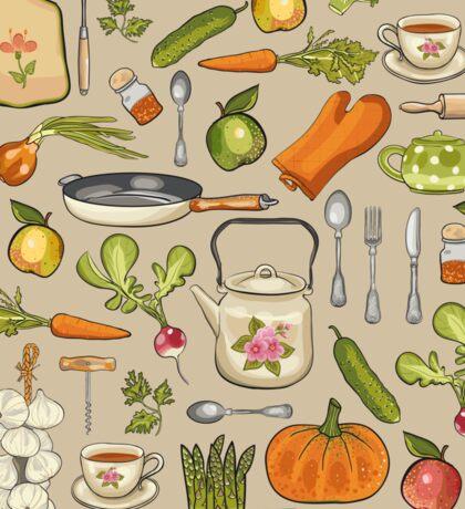 Retro kitchen. Sticker