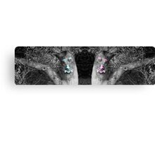 Male And Female Tree Trunks Canvas Print