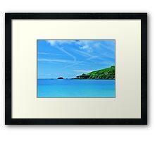 Longis Beach - Alderney Framed Print