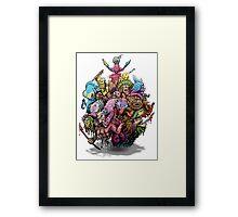 Monster Art Ball Framed Print