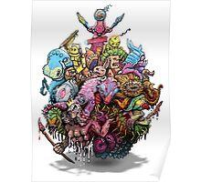 Monster Art Ball Poster