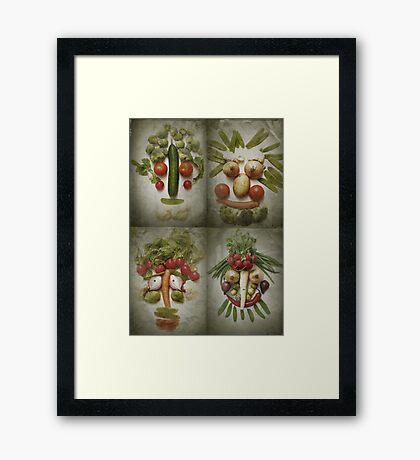 Vegetable Quartet Framed Print