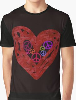 Heart Full Of Peace Graphic T-Shirt