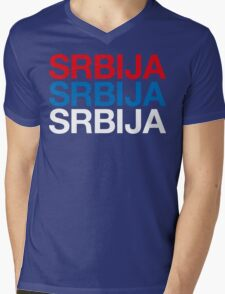 SERBIA Mens V-Neck T-Shirt