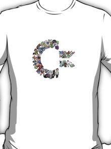 C64 Characters clear bg T-Shirt