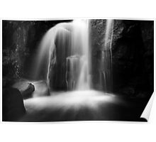 Dragons Teeth in the Falls BW Poster
