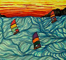 Sailing in rough waters by George Hunter