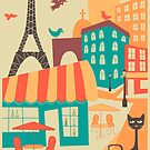 Paris Cafe by JazzberryBlue
