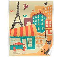 Paris Cafe Poster