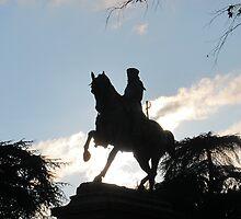 Garibaldi in silhouette, Siena, Italy by buttonpresser