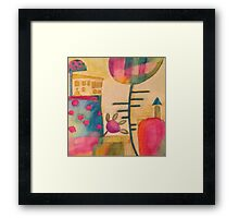 Coloured painting  Framed Print