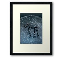 Snow globe walker Framed Print