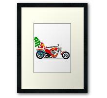 Biker Santa Framed Print