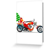 Biker Santa Greeting Card