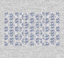Bike Blue Polka Dot (Small) One Piece - Long Sleeve