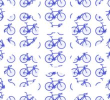 Bike Blue Polka Dot (Small) Sticker