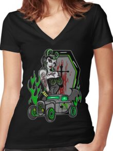 Homicide drive Women's Fitted V-Neck T-Shirt