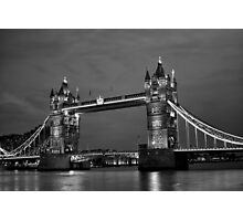 Tower Bridge in Black and White Photographic Print