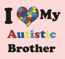 I Love My Autistic Brother One Piece - Long Sleeve