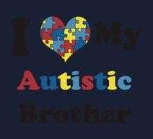 I Love My Autistic Brother Kids Tee