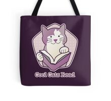 Cool Cats Read Purple Cat Tote Bag