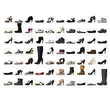 Women's Shoe Montage Photographic Print