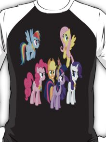 Mane Six In Their Elements T-Shirt